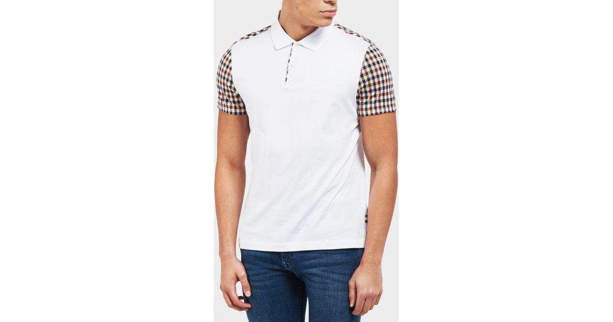 7c0d7c83b Herrenmode Beige Short sleeve Polo neck New Mens Aquascutum Polo Shirt