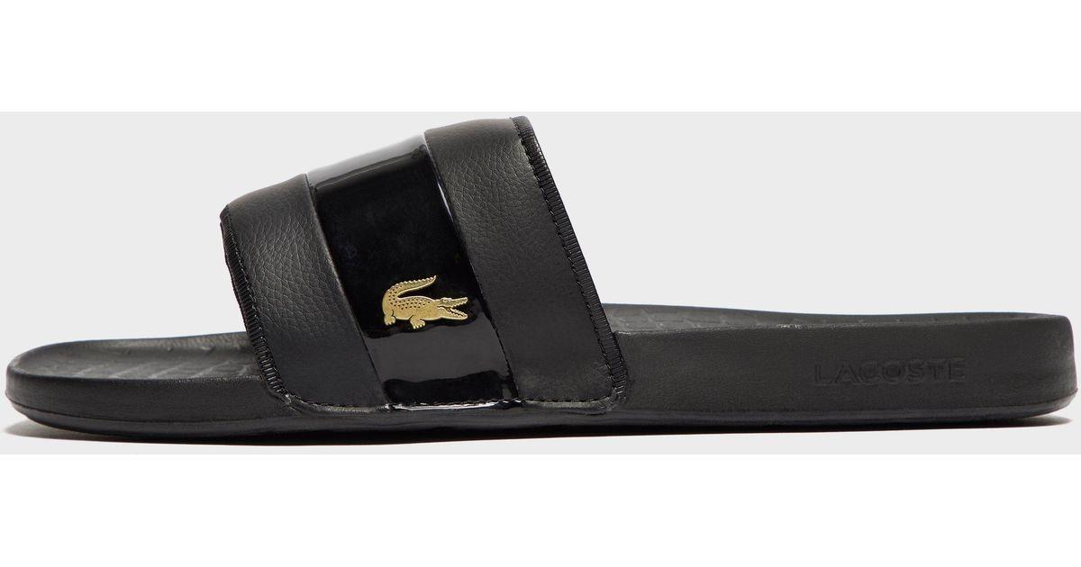 3c158ad1b90e Lyst - Lacoste Fraisier 118 Slide Sandal in Black for Men - Save 33%