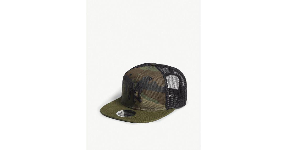 e2b4435c4cb ... denmark lyst ktz new york yankees camouflage mesh snapback cap in green  for men 06771 356b3