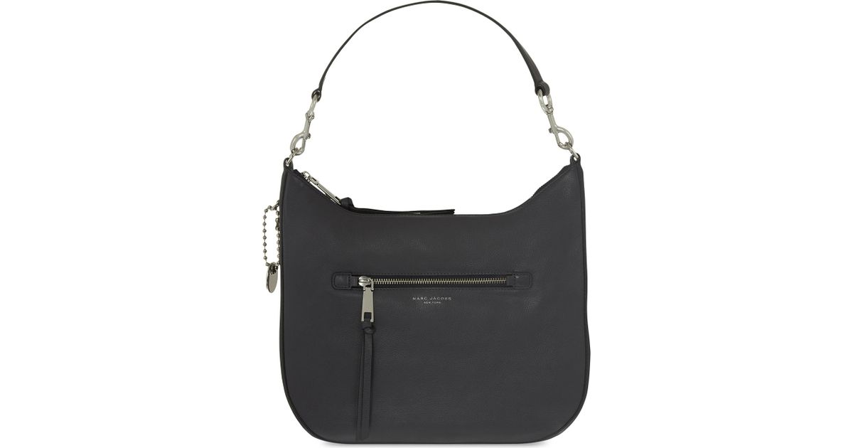 22b86dc653 Lyst - Marc Jacobs Recruit Leather Hobo Shoulder Bag in Black