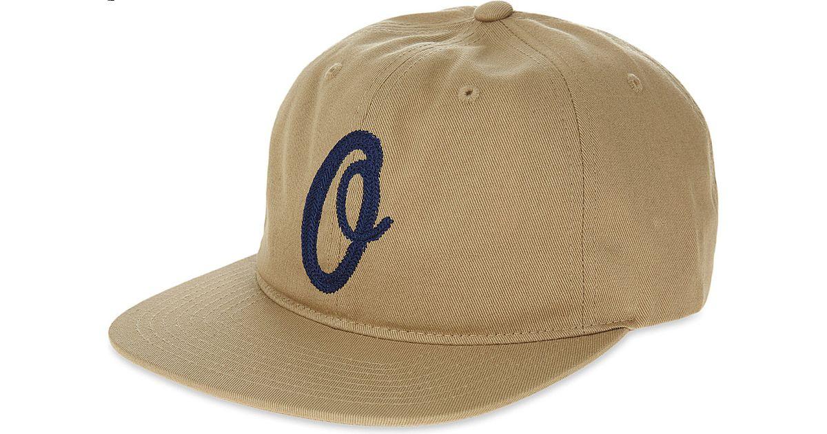 939245af84c5d Lyst - Obey Burnt Strapback Cap in Natural for Men