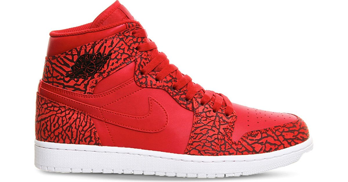 f720130539b0c8 Lyst - Nike Air Jordan 1 Og Leather High-top Trainers in Red