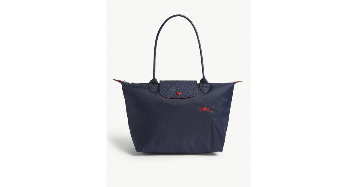 87bfabd26cba Longchamp Navy Blue Le Pliage Club Shoulder Bag in Blue - Lyst