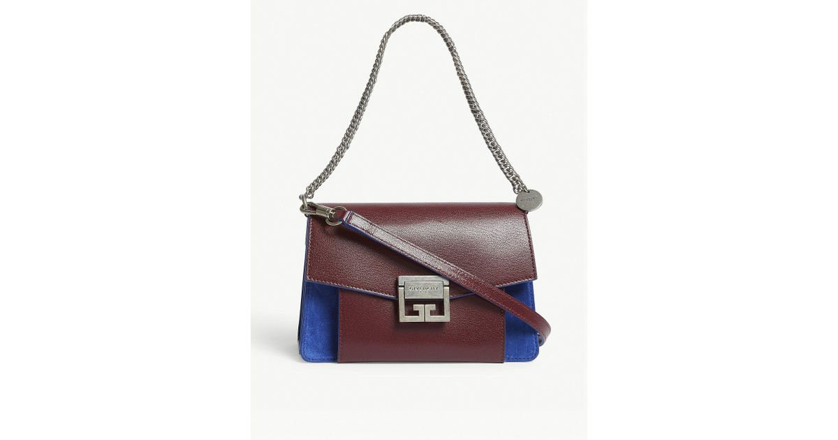 5303c56a3694 Lyst - Givenchy Ladies Aubergine Purple And Blue Gv3 Leather-suede Shoulder  Bag in Purple