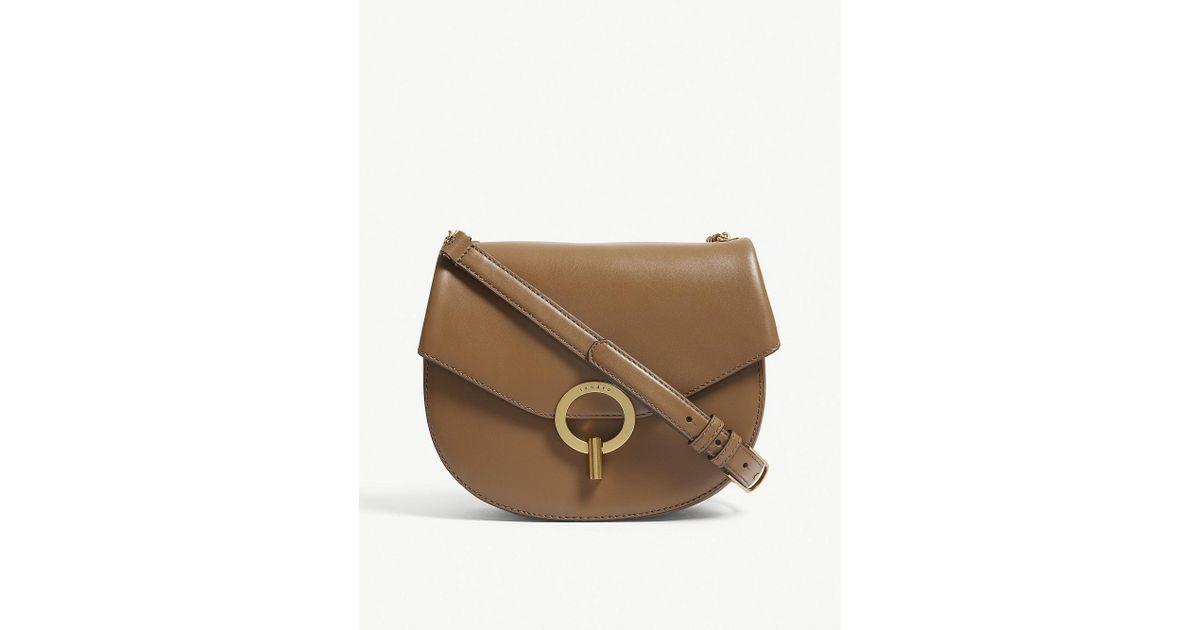 d1c009fed3e3 Lyst - Sandro Pepita Leather Shoulder Bag