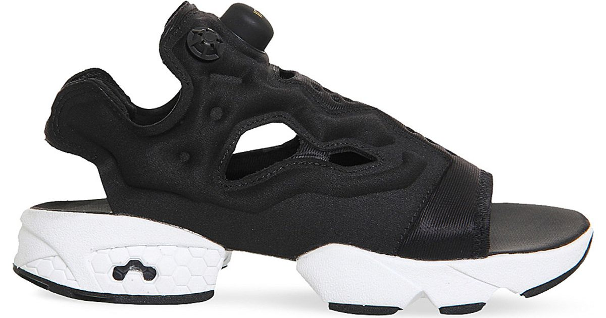 12c2ab552 Lyst - Reebok Instapump Fury Cutout Sandals in Black