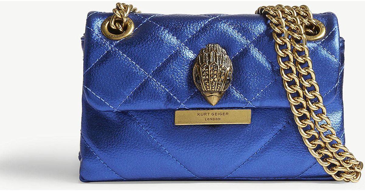 2587010f04d0 Lyst - Kurt Geiger Mini Kensington Leather Shoulder Bag in Blue