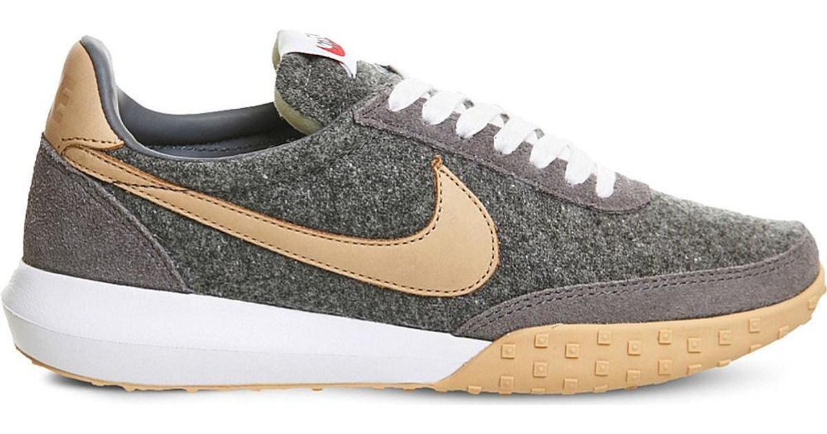 c1e587256ca2 Lyst - Nike Roshe Waffle Wool And Leather Trainers in Gray for Men