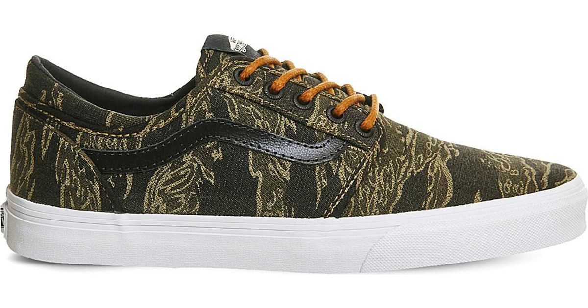 8608fee38c130b Lyst - Vans Cordova Vintage Camo Canvas Trainers in Green for Men