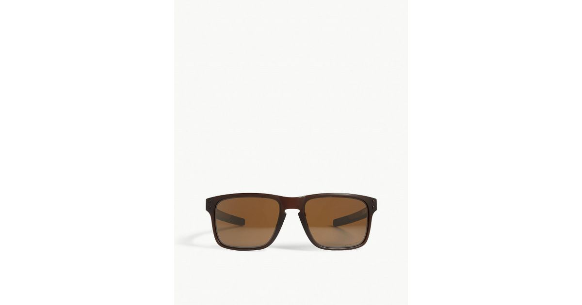 06cc5b8b0d0ad Lyst - Oakley Holbrook Mix Rectangle-frame Sunglasses in Brown