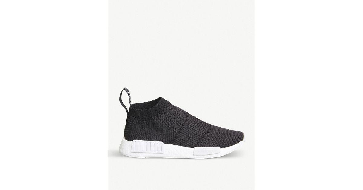 Lyst - adidas Nmd City Sock Primeknit Trainers in Black 681698b17