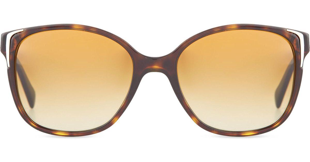 4345ecd20af1a amazon prada sunglasses ladies pr010s havana square bfe38 9de34