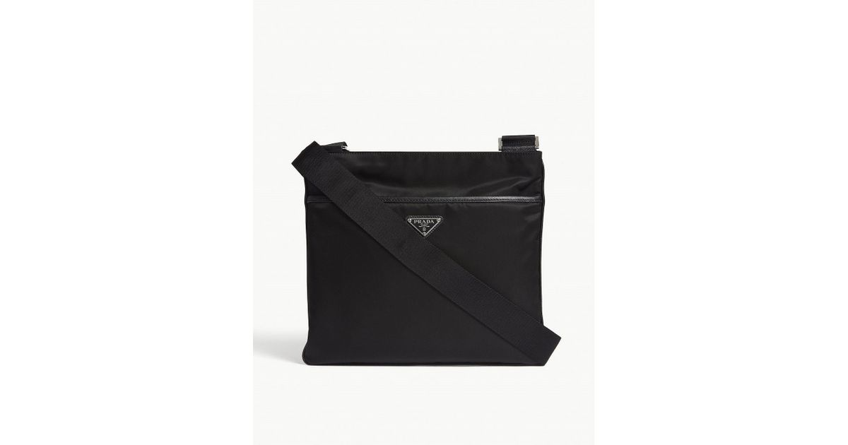 297dc382696 Lyst - Prada Flight Nylon Shoulder Bag in Black