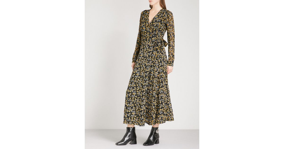 655e7d4b53b6f Ganni Marceau Georgette Maxi Dress in Black - Lyst