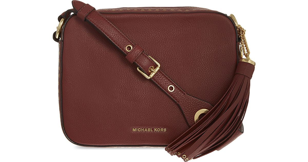 Michael Kors Brooklyn Leather Shoulder Bag In Multicolour