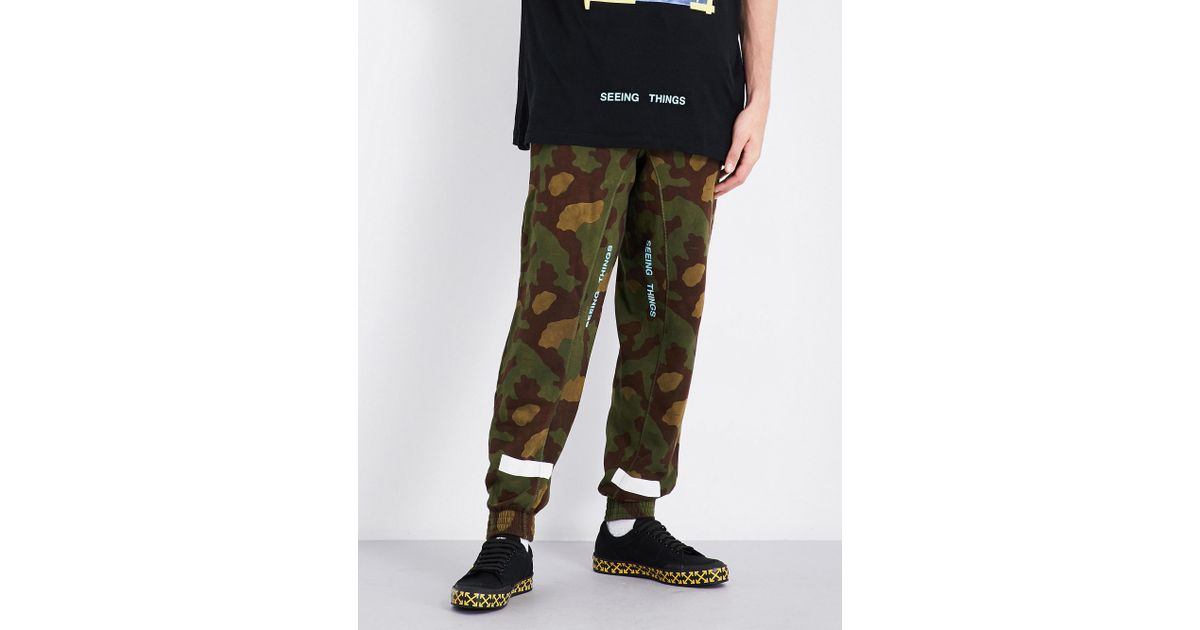 Lyst - Off-White C/O Virgil Abloh Camouflage Cotton-jersey Jogging Bottoms  in Green for Men