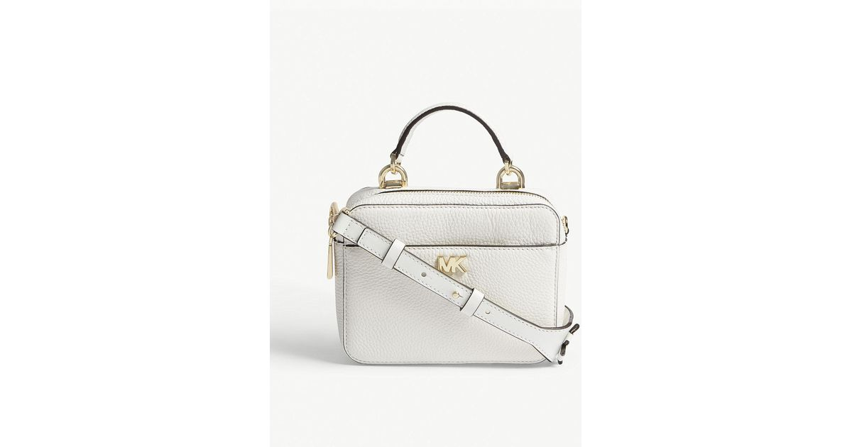 ad68bf49dd73 MICHAEL Michael Kors Michael Kors Ladies Optic White Floral Guitar Strap  Mini Grained Leather Cross-body Bag in White - Lyst
