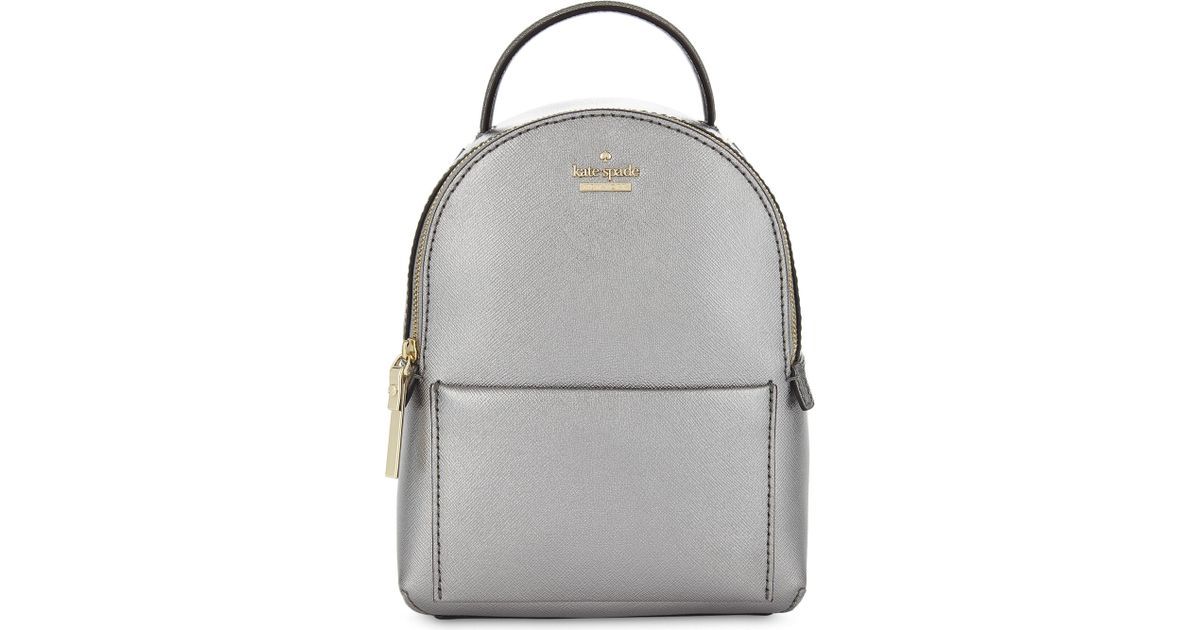 c3f32b28312 Lyst - Kate Spade Cameron Street Merry Mini Leather Backpack in Gray