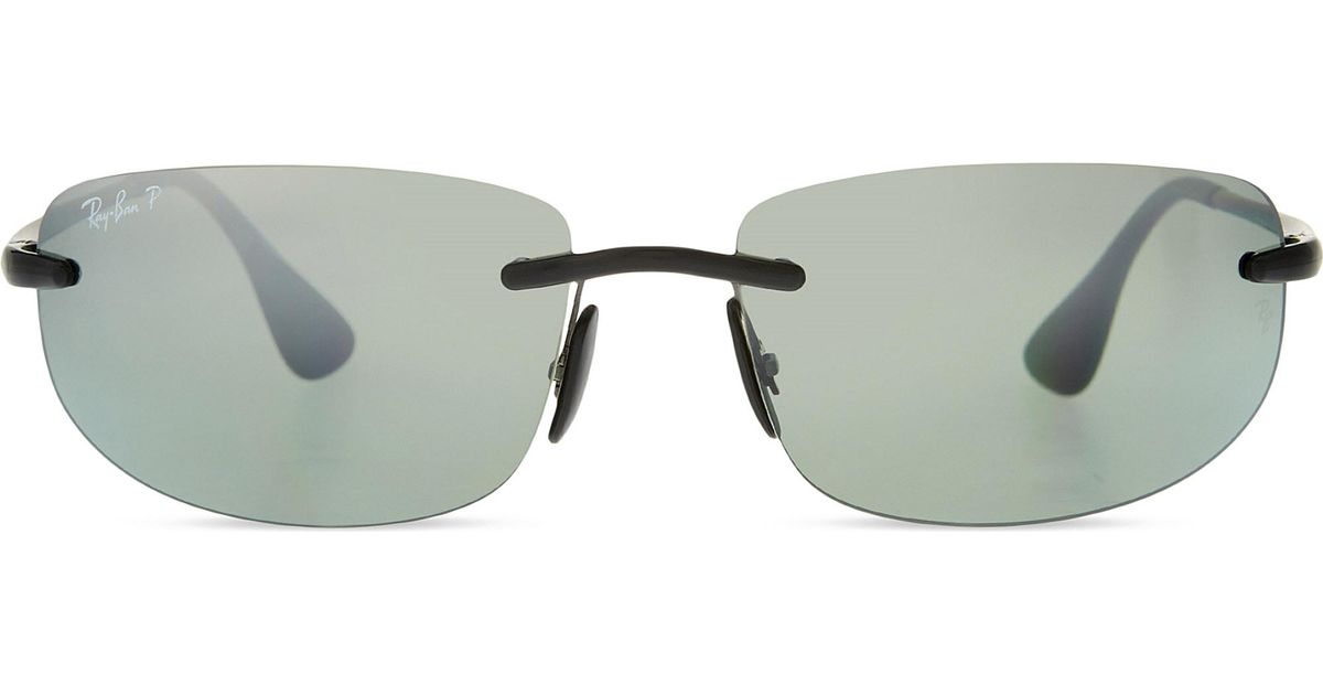 77006713b4 Ray-Ban - Black Rb4254 Chromance Rectangle Sunglasses - Lyst