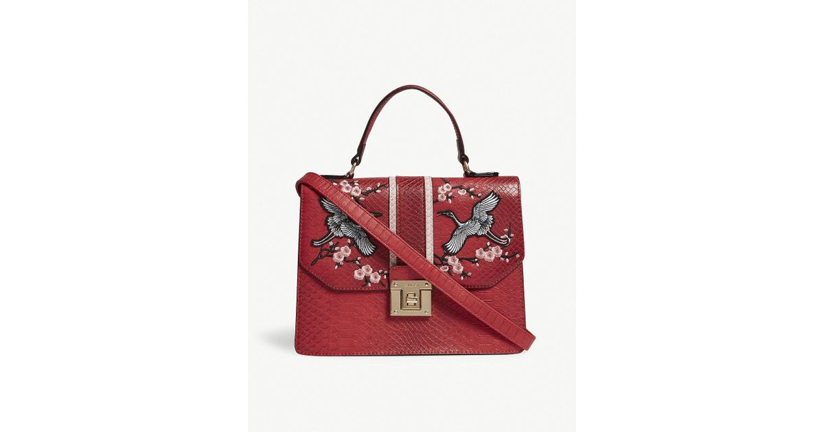 781a95d3a13 Lyst - ALDO Theang Embroidered Cross-body Bag in Red