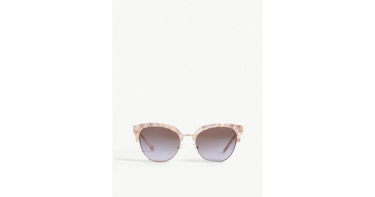 7d1d063c29 Lyst - Michael Kors Savannah Cat-eye Frame Sunglasses in Pink