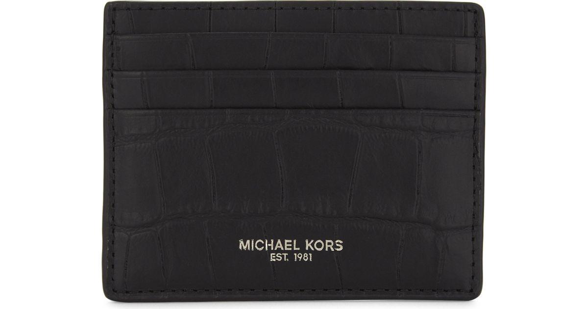 f71d096e2696 Lyst - Michael Kors Bryant Croc-embossed Car Holder in Black for Men