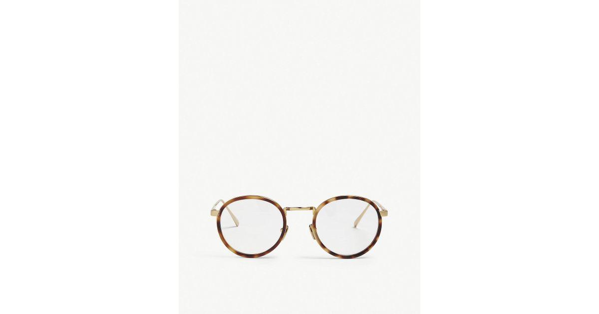 2b816b2deea Lyst - Linda Farrow Lfl182 Oval-frame Glasses in Metallic