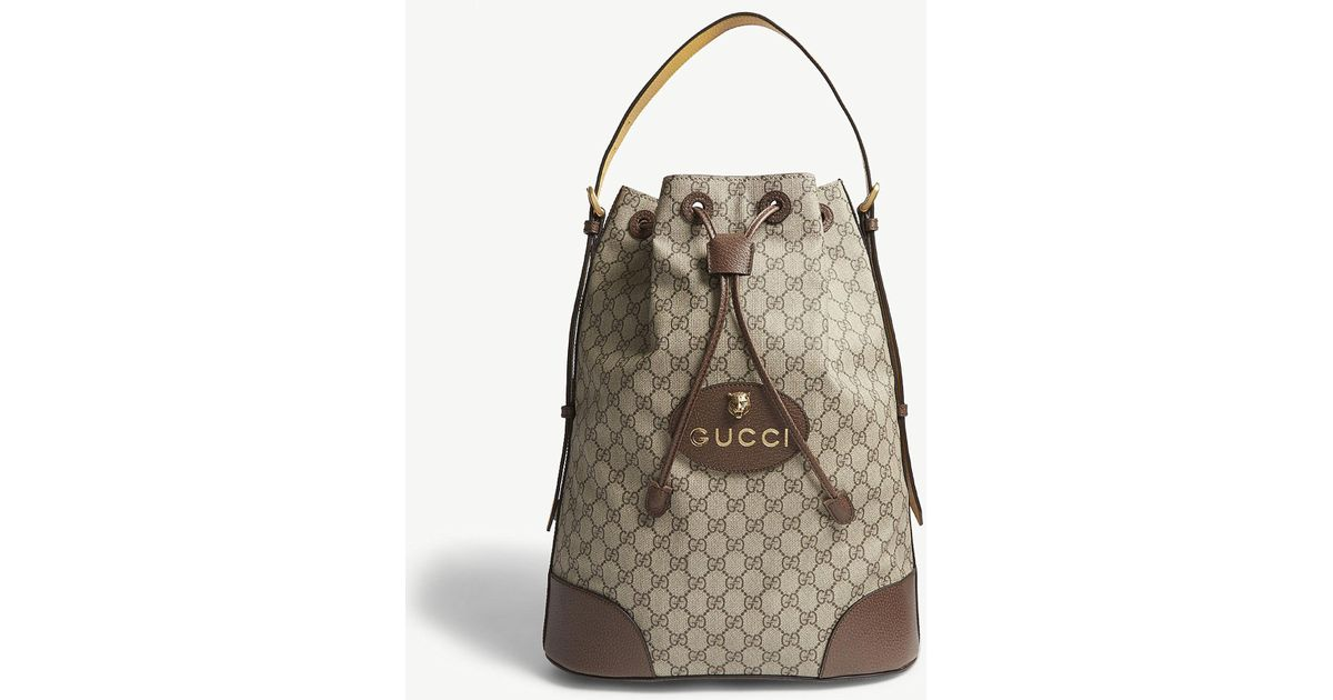 7dd49181be3 Lyst - Gucci Neo Vintage Gg Supreme Backpack in Natural