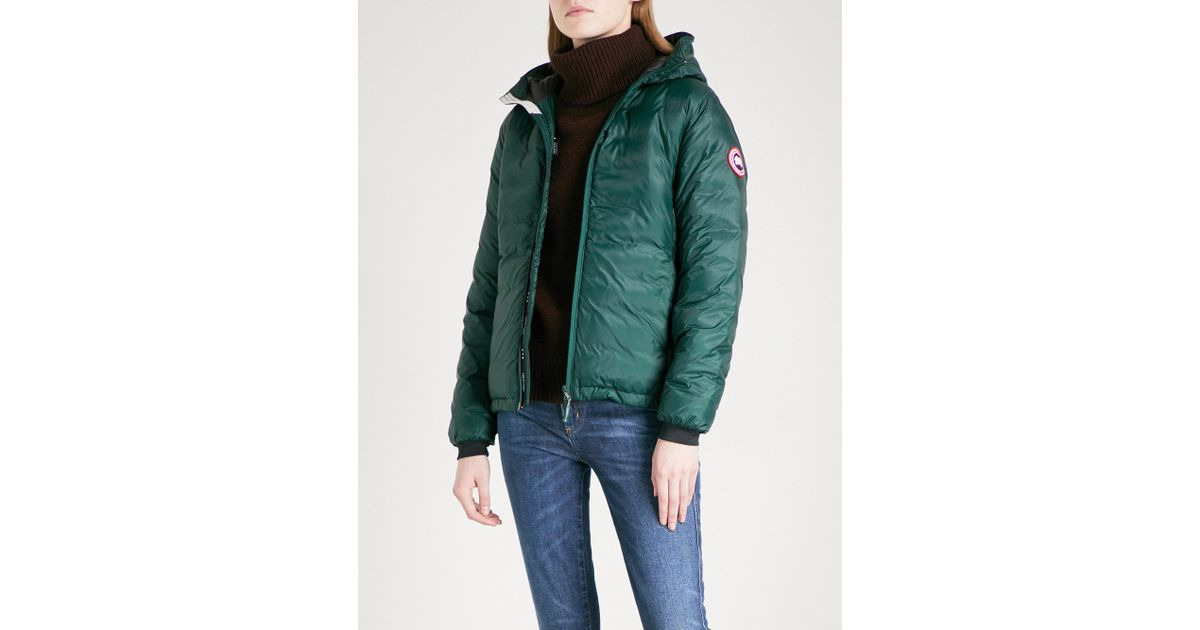 e82bf197b8ea ... order lyst canada goose camp hooded quilted jacket in green c1652 dd470  ...