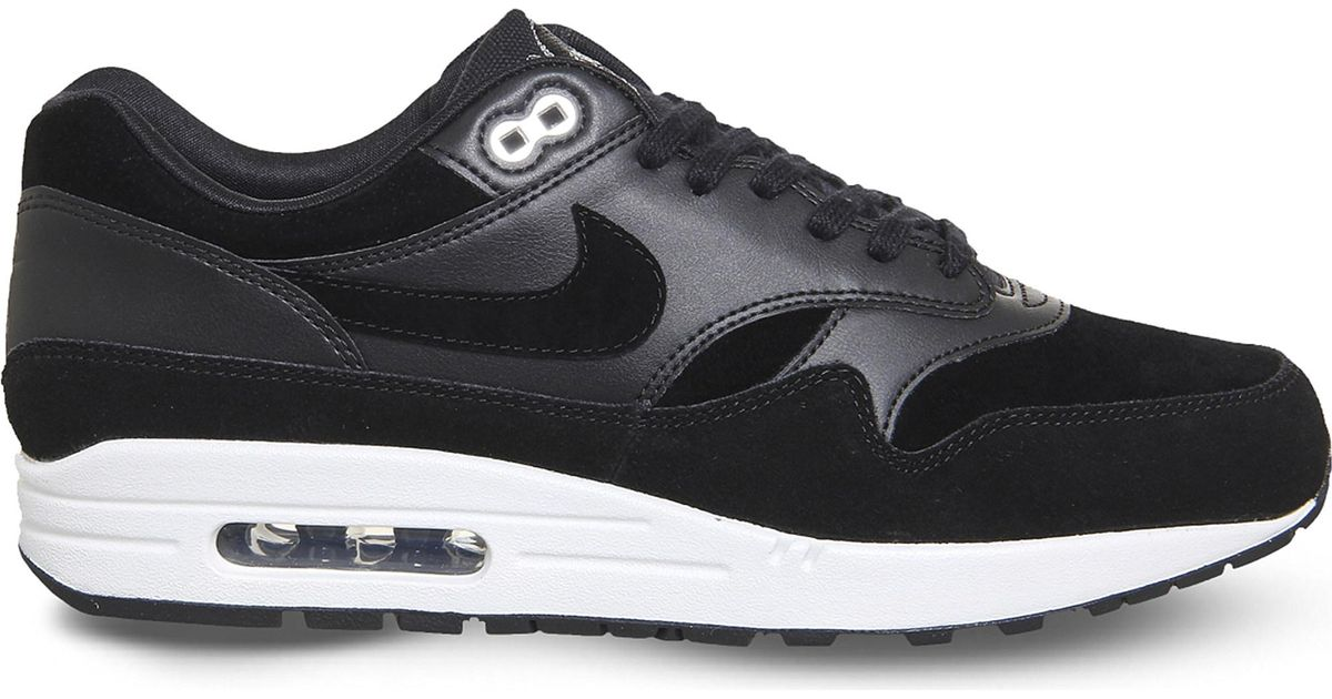 sports shoes d99d8 3c8a2 ... inexpensive lyst nike air max 1 skulls leather and suede trainers in  black for men 86add