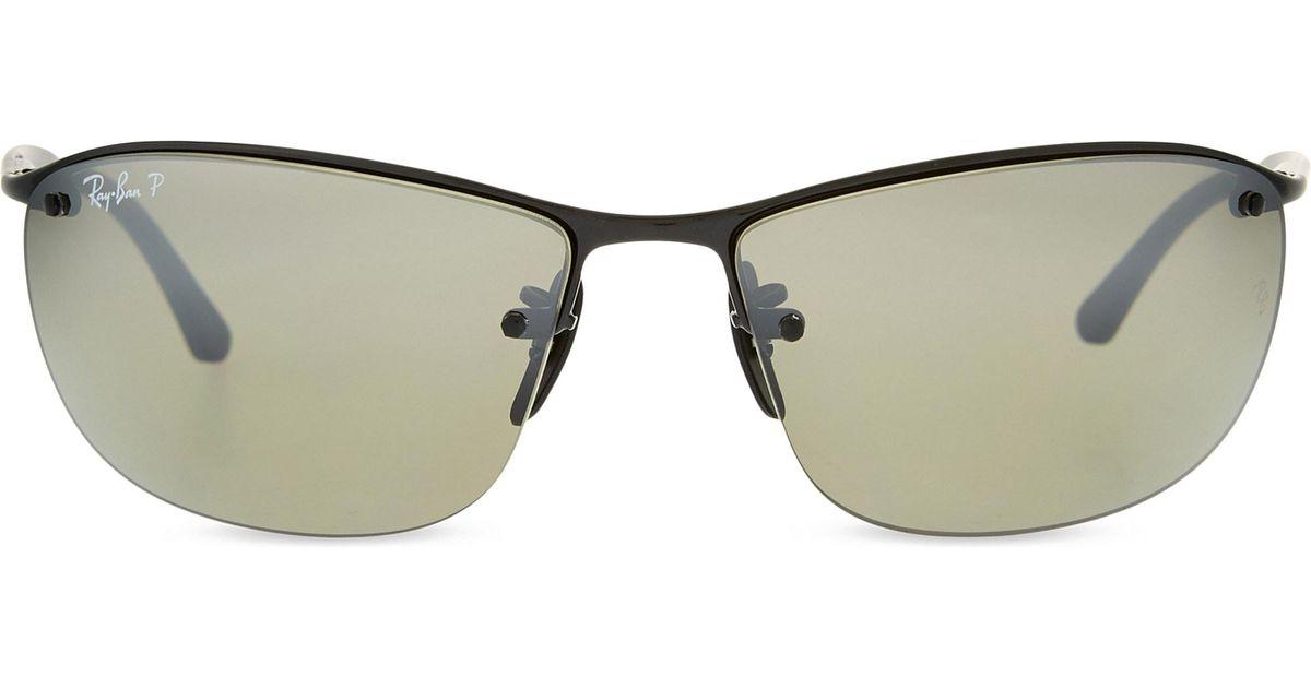 862906f19e0fd Lyst - Ray-Ban Rb3544 Chromance Square-frame Sunglasses in Black