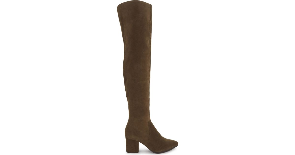 3bdb5d1b860 ALDO Iboewet Suede Over-the-knee Boots in Natural - Lyst