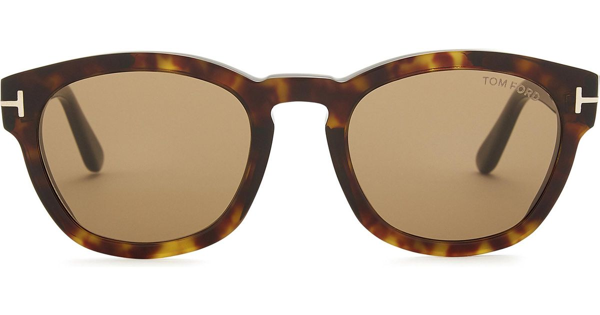 8ed29e5448 Tom Ford Tf590 Bryan Square-frame Sunglasses in Brown - Lyst