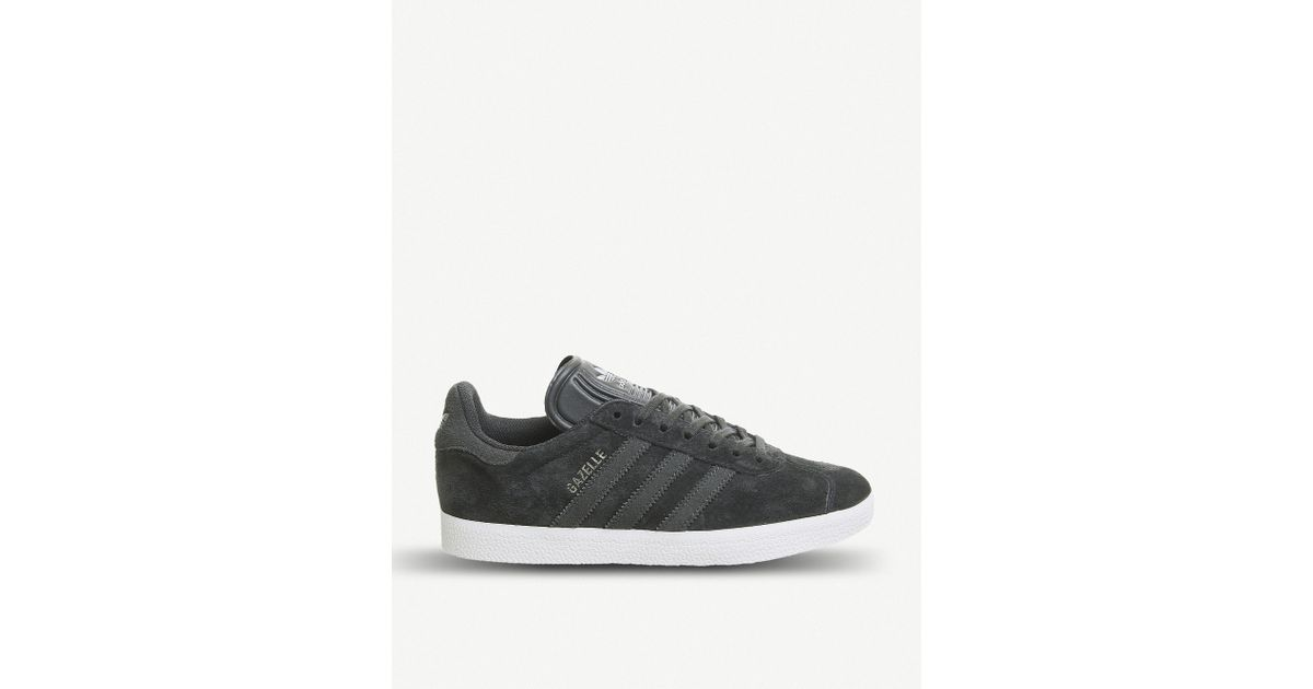 low priced 148ac 2787a Lyst - adidas Gazelle Suede Trainers in Gray for Men