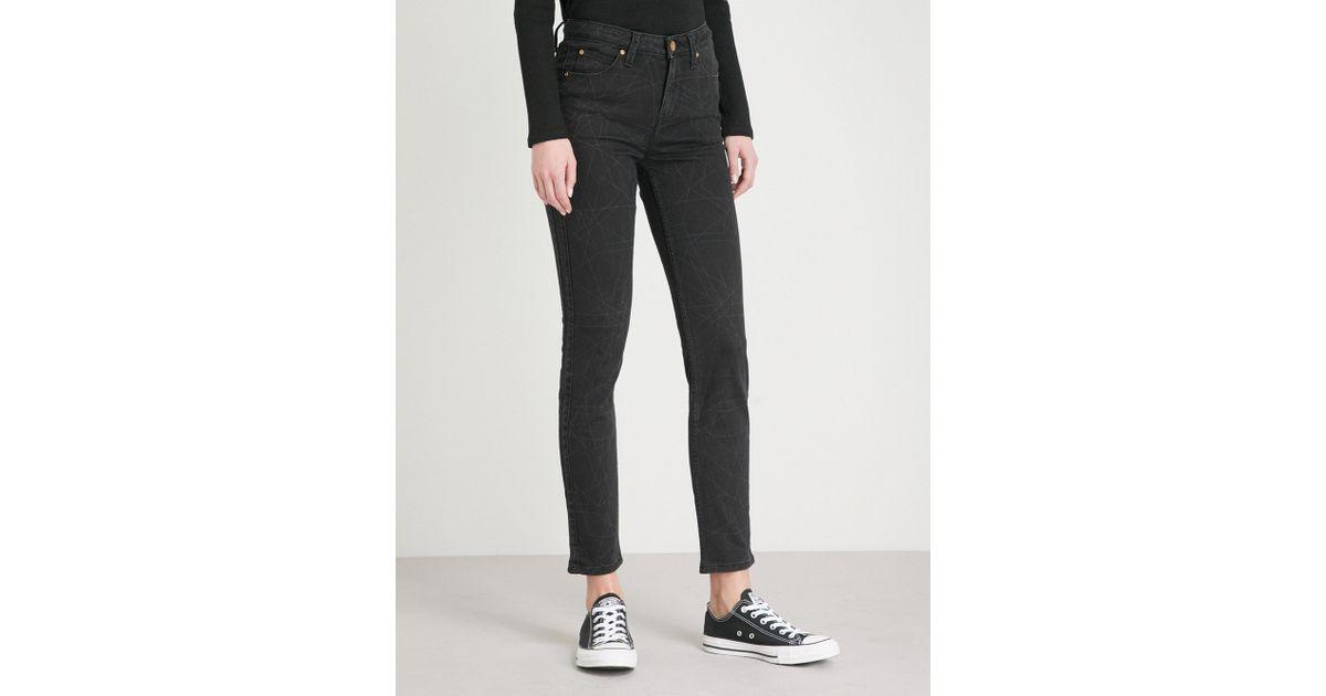 ae5a3ba8 Lee Jeans Body Optix Scarlett Skinny High-rise Jeans in Black - Lyst