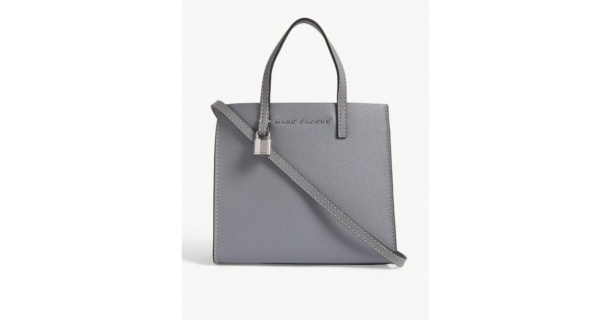 ee9b2cc4f326 Marc Jacobs Slate Grey Mini Grind Tote Bag in Gray - Lyst