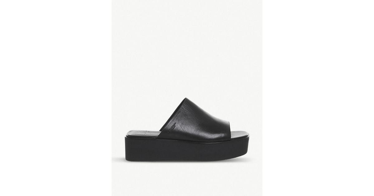 dc66489f93c7 Vagabond Bonnie Leather Sliders in Black - Lyst