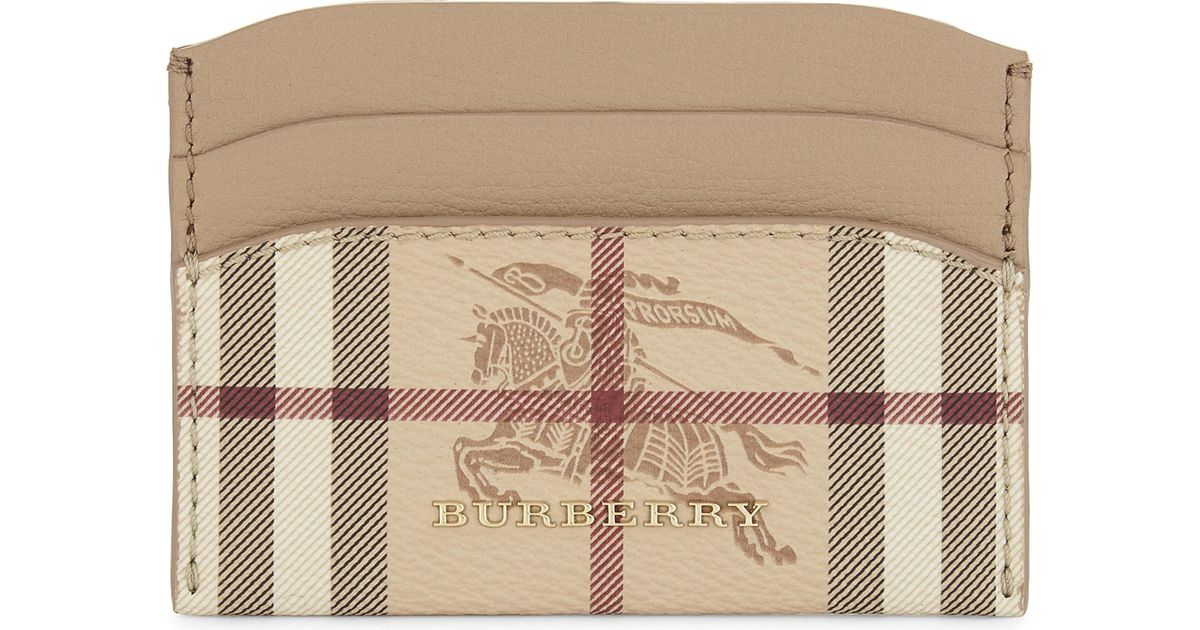 Burberry Haymarket Check and Leather Card Case ncAPkFE