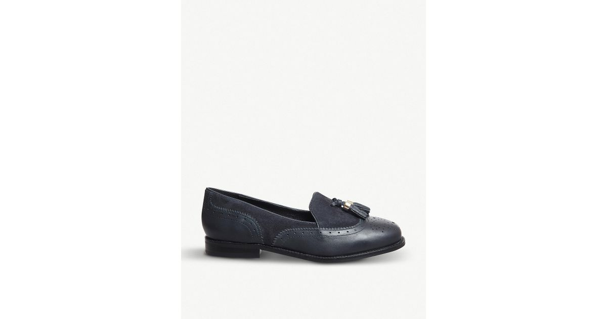 81579716d39 Lyst - Office Familiar Tassel-detail Patent Leather Loafers in Blue