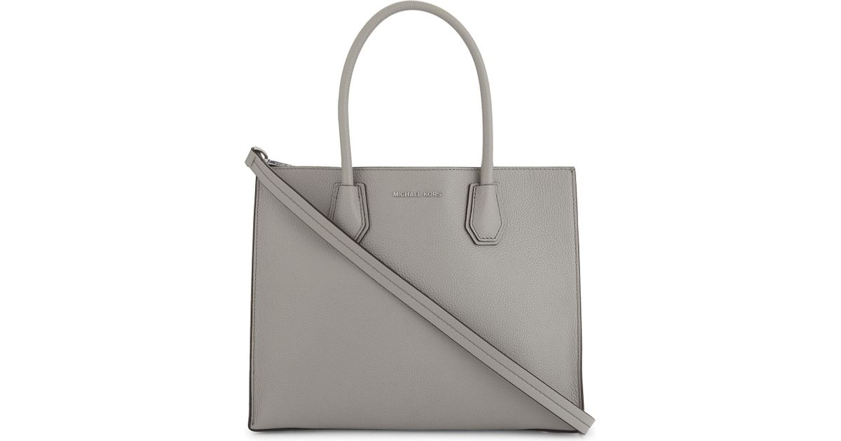 02ff01f156e3 Lyst - Michael Michael Kors Mercer Large Leather Tote in Gray