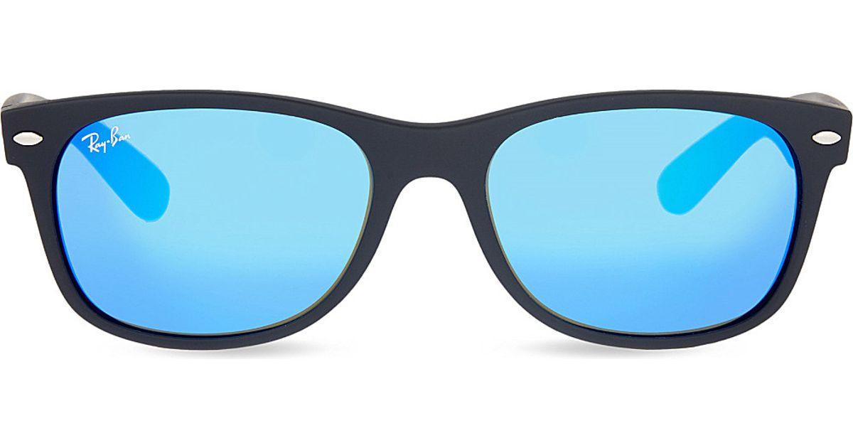 c1506d6d337 Lyst - Ray-Ban Rb3132 New Wayfarer Square Sunglasses in Blue for Men