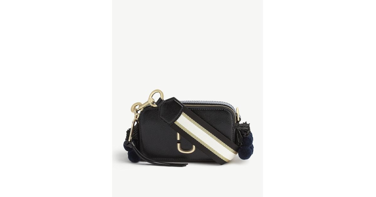 1f31f34009 Marc Jacobs Snapshot Saffiano Leather Cross-body Bag in Black - Lyst