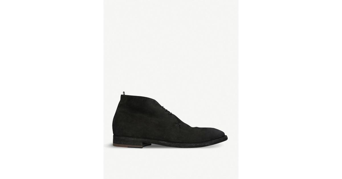 8c8783a0 Officine Creative - Black 3-eye Leather Desert Boots for Men - Lyst