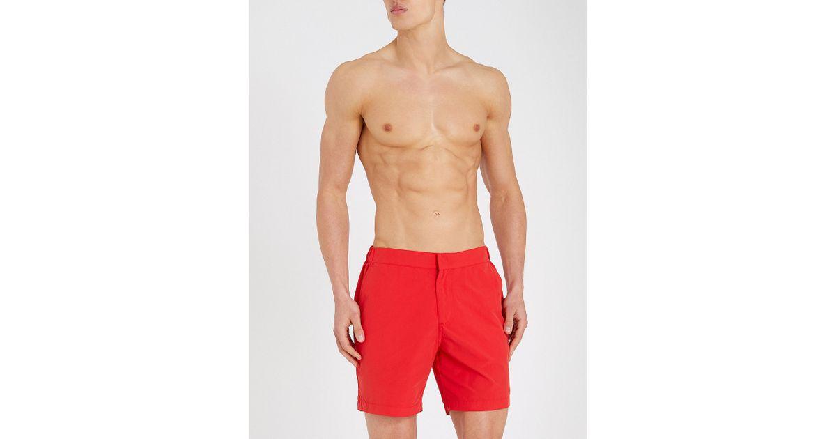 ec98a400f5 Derek Rose Aruba Shell Swim Shorts in Red for Men - Lyst
