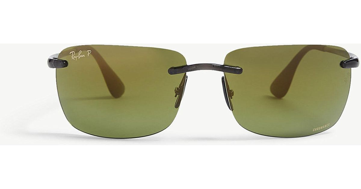7a5f267270e Ray-Ban Rb4255 Chromance® Square Sunglasses in Gray for Men - Lyst