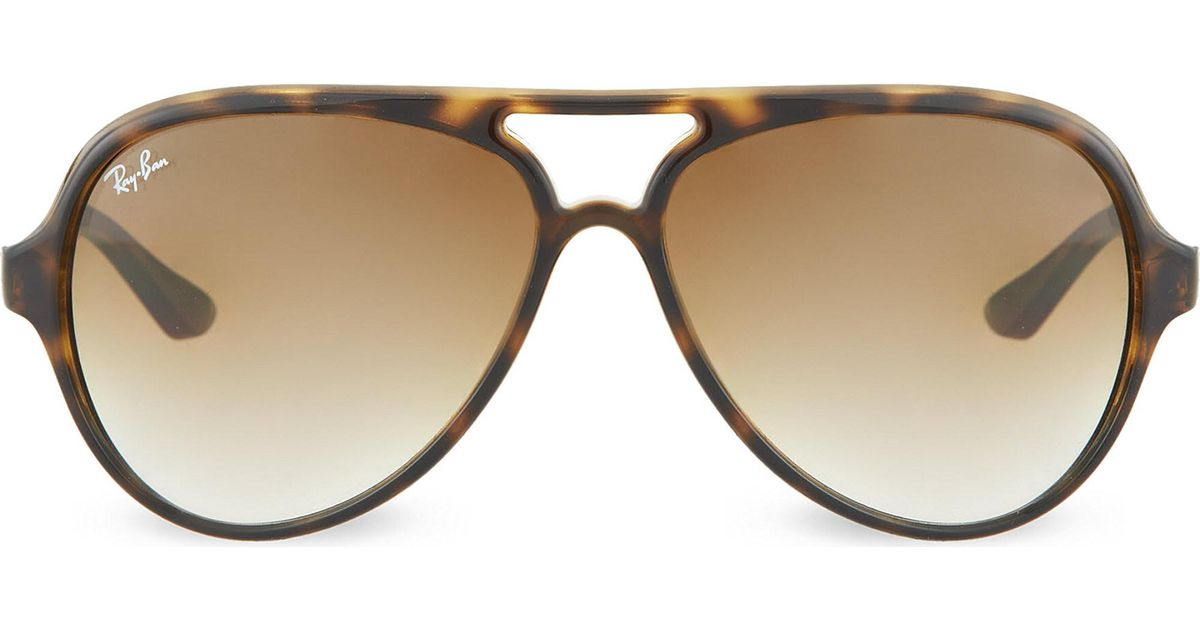 401a6b90926 Lyst - Ray-Ban Cats 5000 Sunglasses In Light Havana With Brown Gradient  Lenses Rb4125 59 in Brown - Save 2%