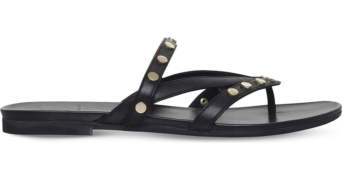49aa7930bdcd Lyst - KG by Kurt Geiger Modena Studded Leather Sandals in Black