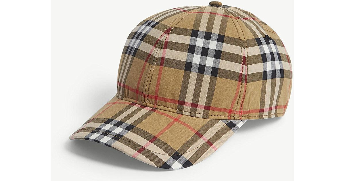 32bb6bcef18 Burberry Checked Brushed-wool Baseball Cap in Brown for Men - Save 8% - Lyst