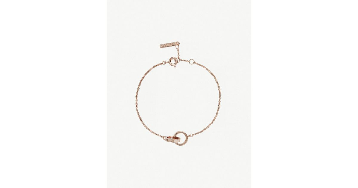 0050018115a03 Lyst - Olivia Burton The Classics Rose Gold-plated Stainless Steel Chain  Bracelet in Metallic