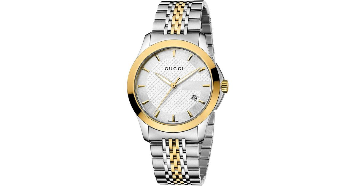 7eb29be2d6a Lyst - Gucci Ya126409 G-timeless Collection Stainless Steel And Yellow-gold  Pvd Watch in Metallic for Men
